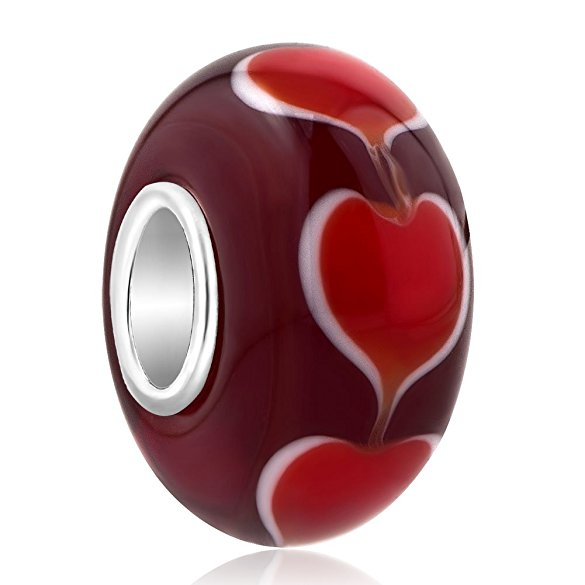Pandora Red Vines Murano Glass Charm