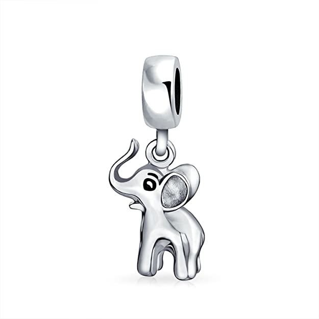 Pandora Ring Shape Elephant Dangle Charm