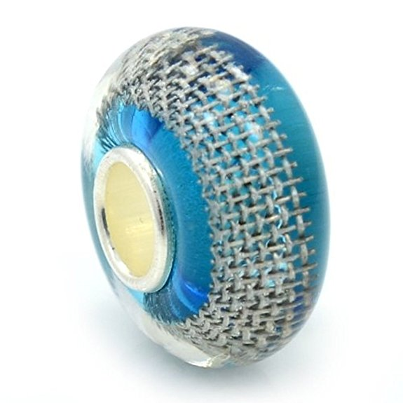 Pandora Root Bear Stripe Murano Glass Charm