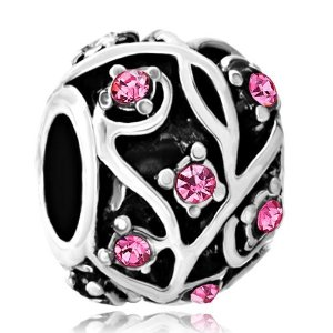 Pandora Round Flower October Birthstone Charm