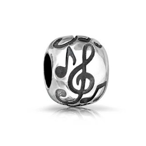 Pandora Rounded Clef Musical Note Charm