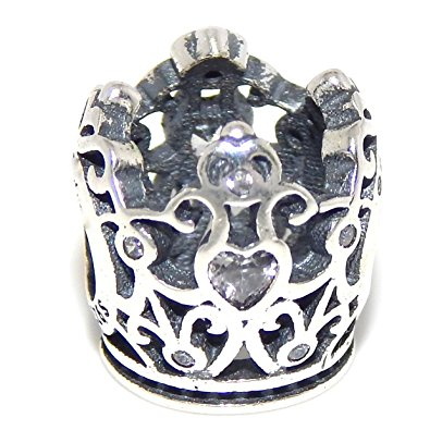 Pandora Royal Crown Gold Plated Charm With Diamonds
