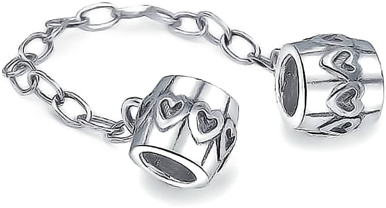 Pandora Safety Chain With Heart Bead