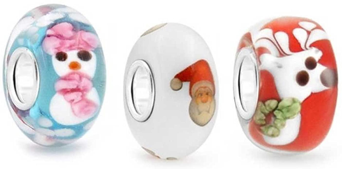 Pandora Santas Reindeer Glass Charm