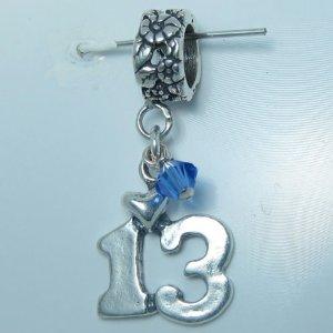 Pandora September Birthstone 13 Birthday Charm
