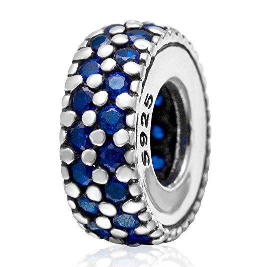 Pandora September Birthstone Sapphire Color CZ Charm