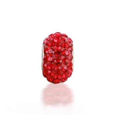 Pandora Shamballa Red Crystal Charm