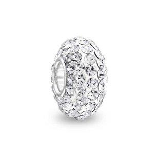 Pandora Shamballa White Swarovski Crystal Charm