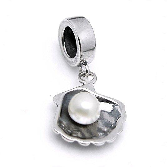 Pandora Shell Pearl Charm