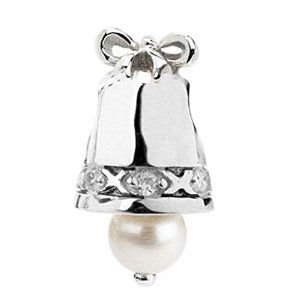 Pandora Silver Bell With Pearl Charm