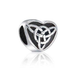 Pandora Silver Celtic Hearts and Trinity Charm