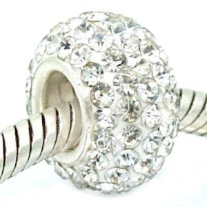 Pandora Silver Clear Crystal Slide Charm