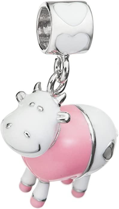 Pandora Silver Cow Glass Charm