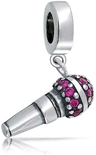 Pandora Silver Microphone Charm