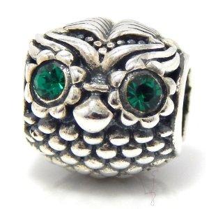 Pandora Silver Plated Large Owl Charm