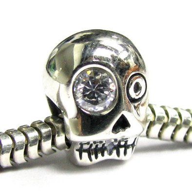 Pandora Silver Skull Charm