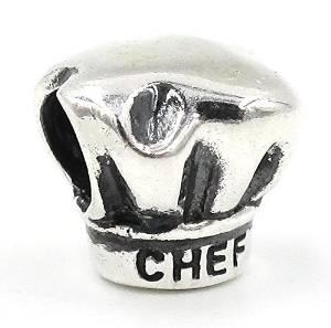 Pandora Silver Tone Best Chef Spacer Charm