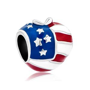 Pandora Silver US Flag Charm