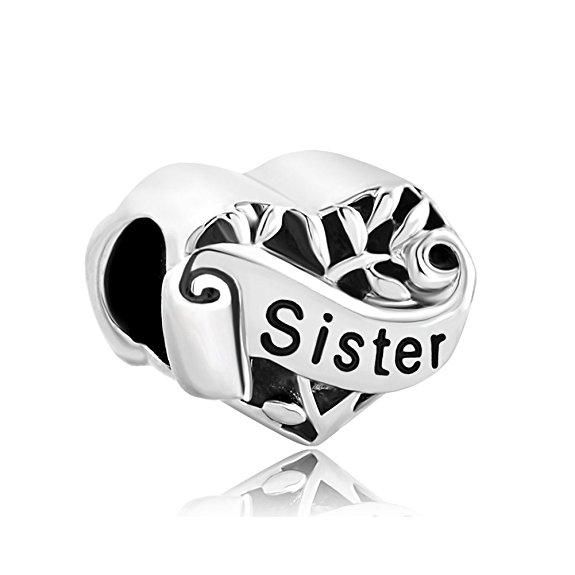 Click image to buy this pandora sister heart shaped charm