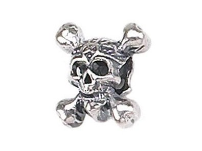 Pandora Skull With Crossbones Dangling Charm