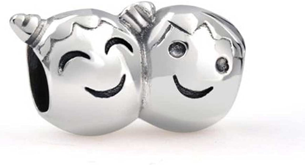 Pandora Smiling Boy and Girl Faces Charm