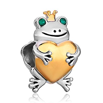 Pandora Smiling Prince Frog With Crown Charm