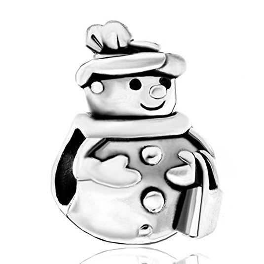 Pandora Snowman With Hat and Scarf Charm