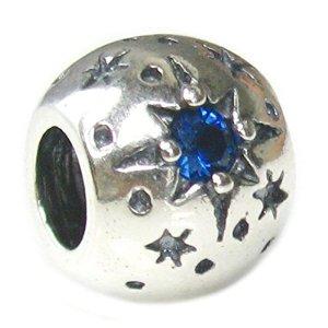 Pandora Stars With September Birthstone Clip Lock Charm