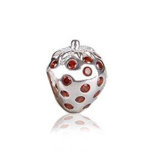 Pandora Strawberry Fruit Charm With January Birthstone