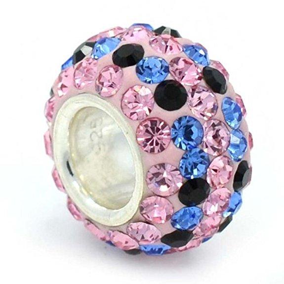 Pandora Swarovski Crystal Charm With Light Pink Stripe