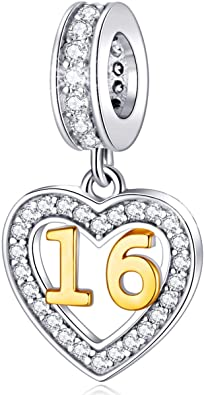 Pandora Sweet 16 Numeral Crystal Charm