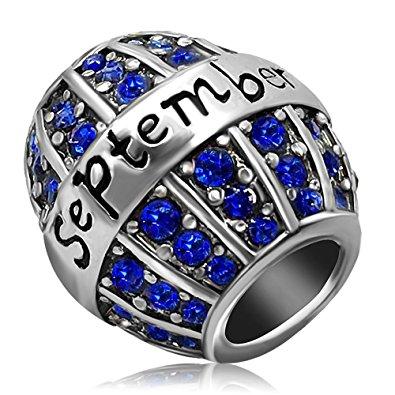 Pandora Teal Blue Rhinestone Charm