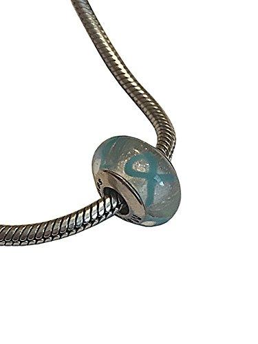 Pandora Teal Ribbon Awareness Charm