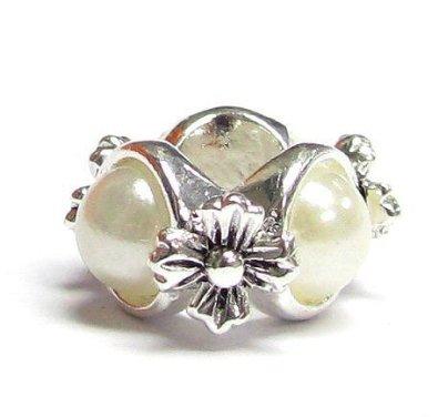 Pandora Three Pearls With Flowers Charm
