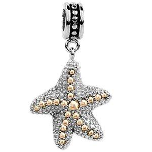 Pandora Topaz Crystals Starfish Charm