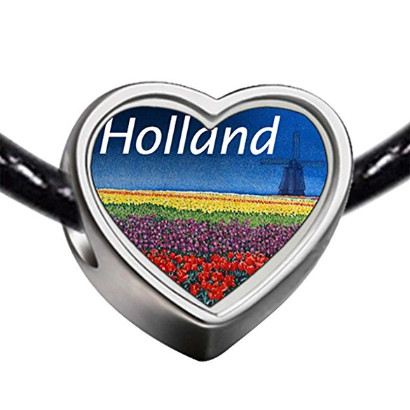 Pandora Travel Holland Photo Heart Bead