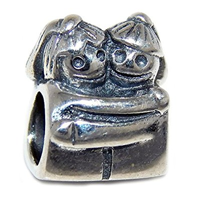 Pandora Twin Sisters Faces Charm