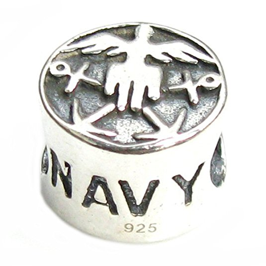 pandora usa navy charm