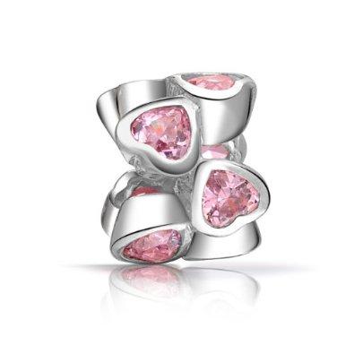 Pandora Valentines Day Pink Hearts Charm