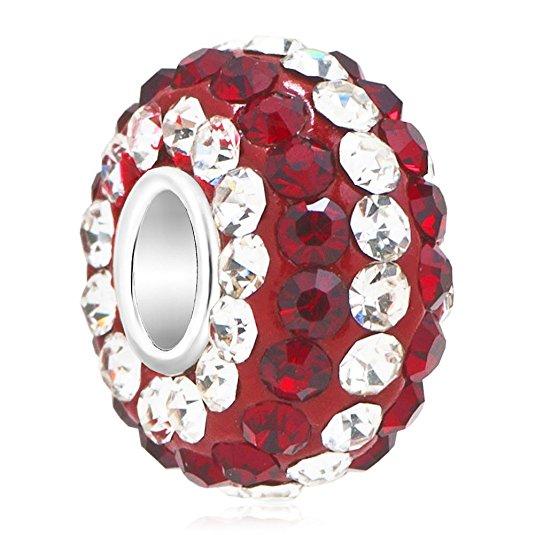 Pandora Victorian Red Swarovski Crystal Charm