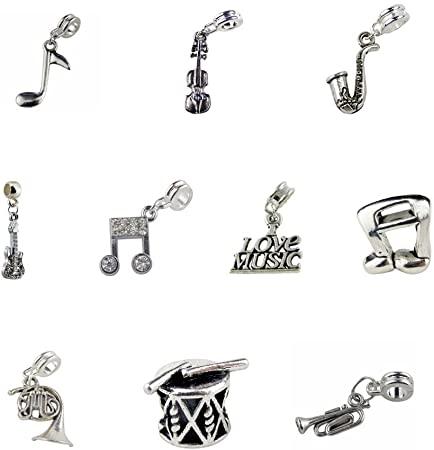 Pandora Violin, Guitar And Saxophone Charm