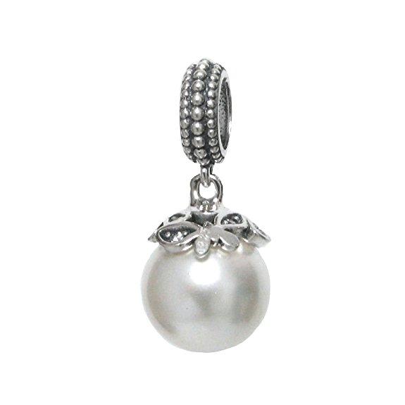 Pandora White Pearl Pendant Charm