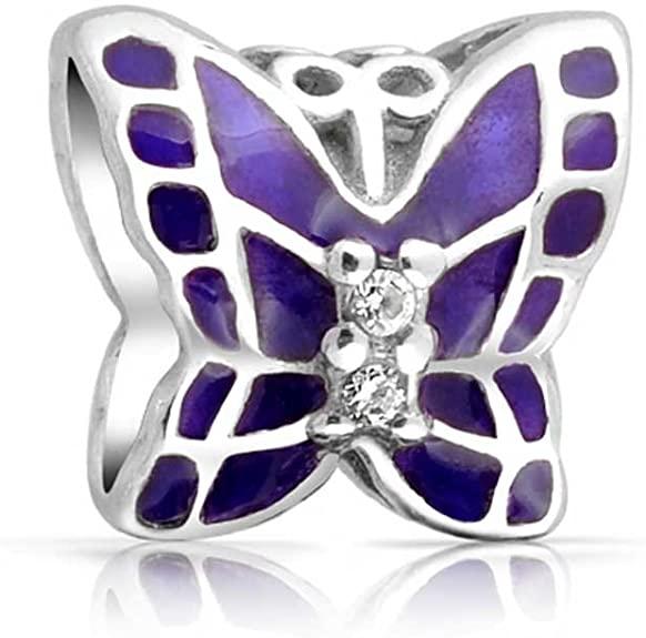 Purple Enamel Butterfly Pandora Charm