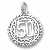 Rembrandt 10K Yellow Gold 50 Birthday Charm