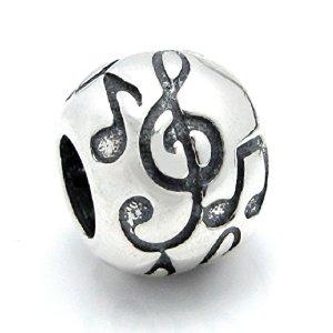 Round Musical Pandora Bead
