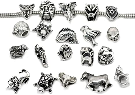 Set of 10 Pandora Animals Charm