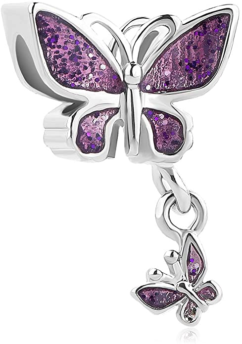Silver Butterfly Dangle Pandora Charm