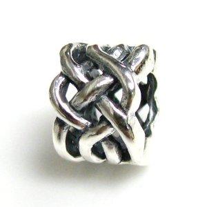 Silver Celtic Weave Charm For Pandora