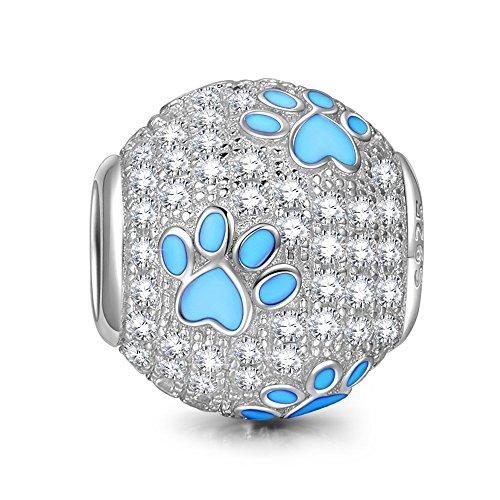 Silver Dog Paw Pandora Charm