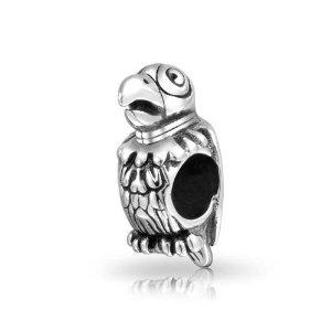 Silver Parrot Pandora Bead